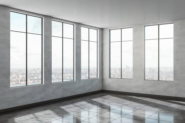 Zeitgenössisches Büroinneres aus Beton – Foto