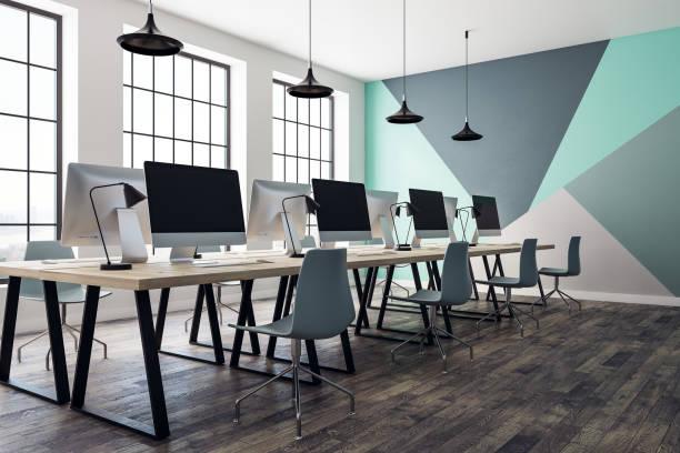 Moderne Büroeinrichtung coworking – Foto