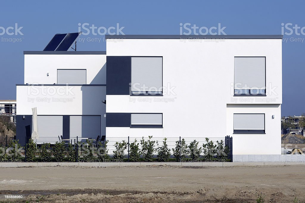 Contemporary cubistic white house royalty-free stock photo