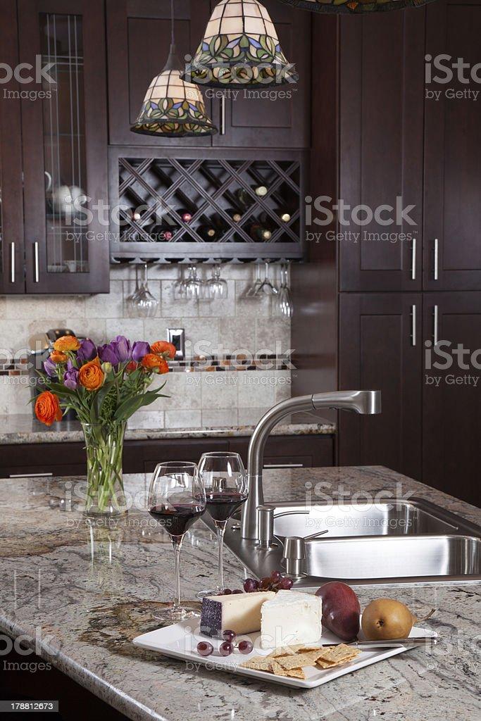 Contemporary Custom Kitchen stock photo