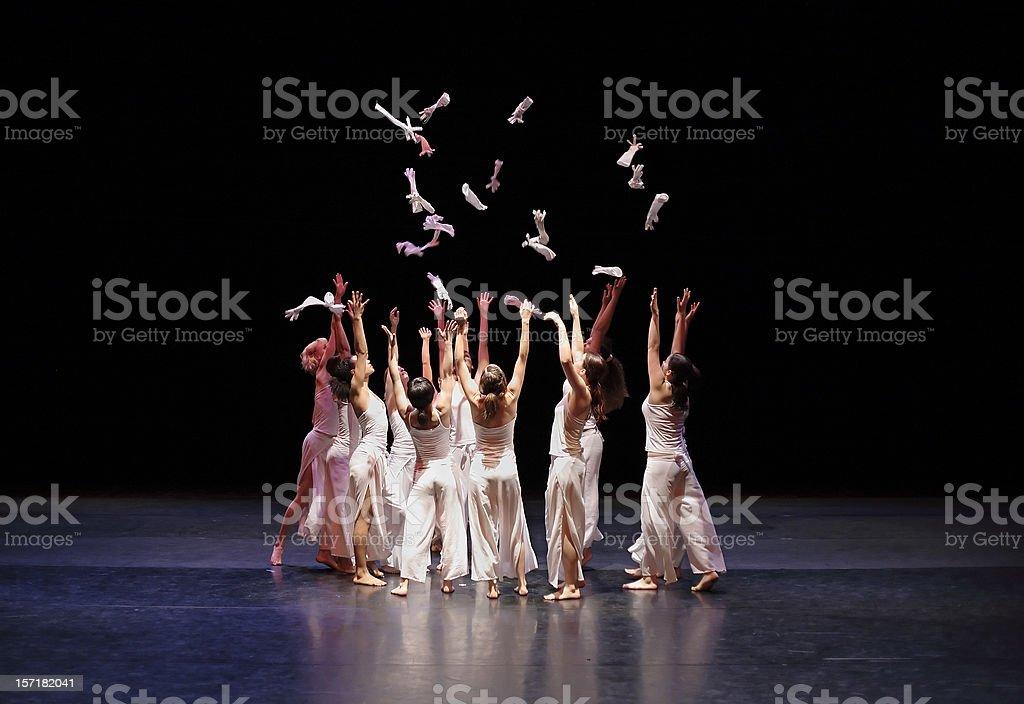 Contemporary dance bildbanksfoto