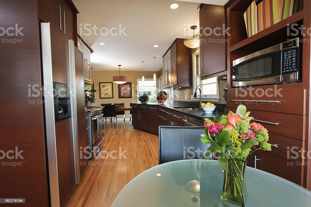 Contemporary Design- Kitchen and Dinning Room royalty-free stock photo