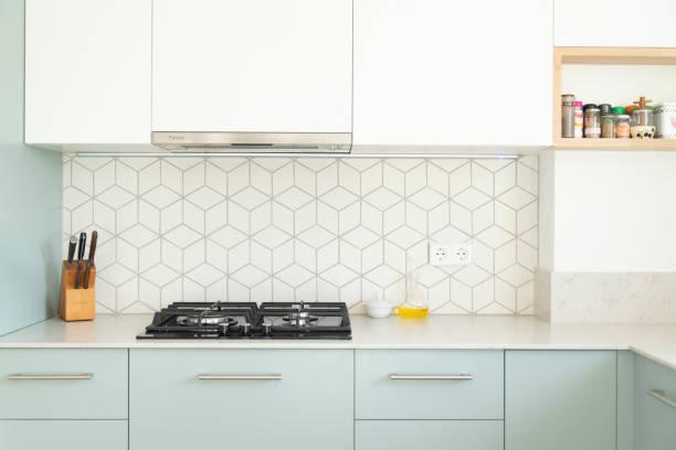 현대 디자인 주방 - 모던 양식 뉴스 사진 이미지