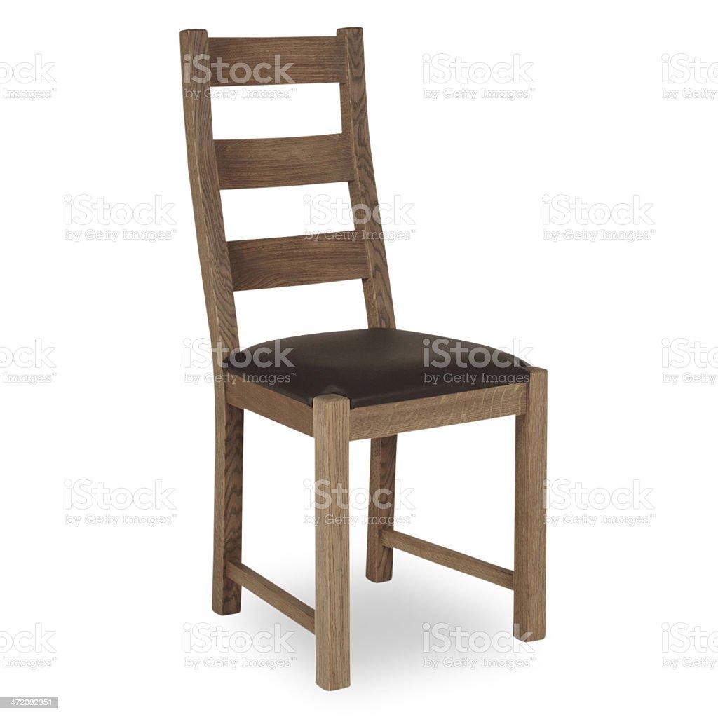 Moderne Küche Stuhl Aus Holz Und Leder Stockfoto Und Mehr Bilder Von