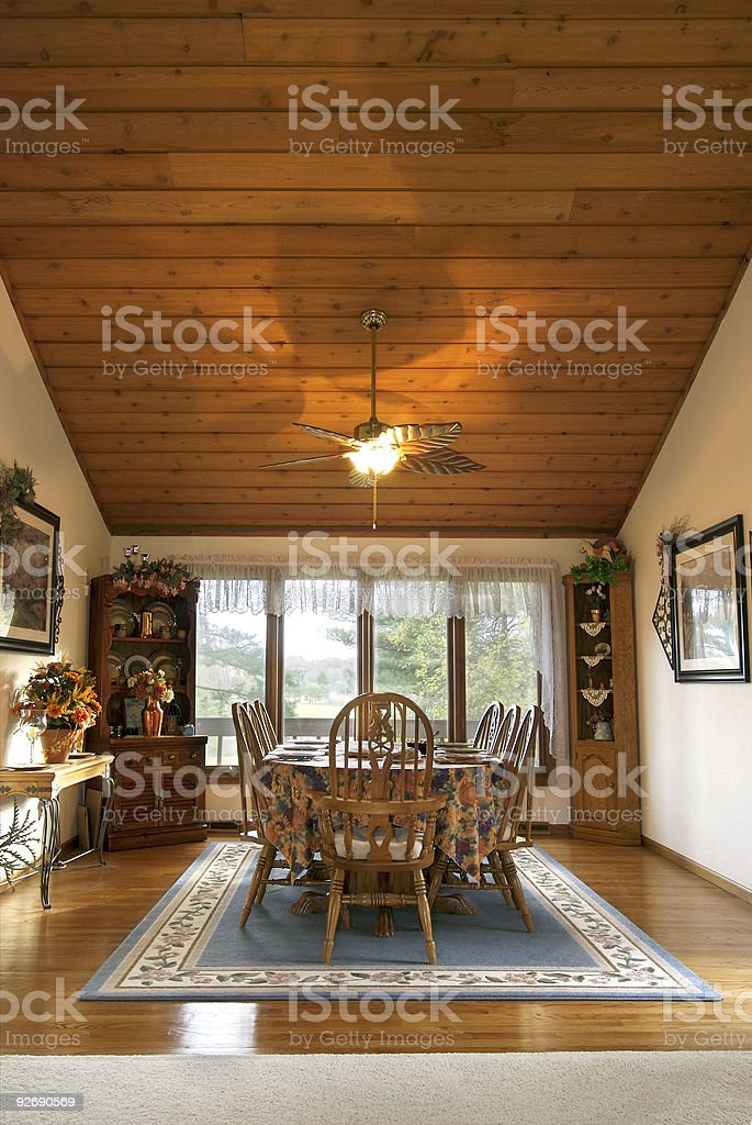 Contemporary Dining Room royalty-free stock photo
