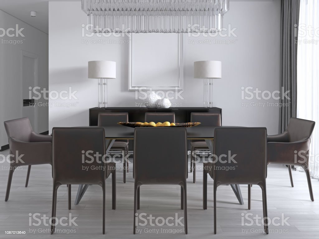 Comedor Contemporáneo Con Una Gran Mesa Rectangular De ...