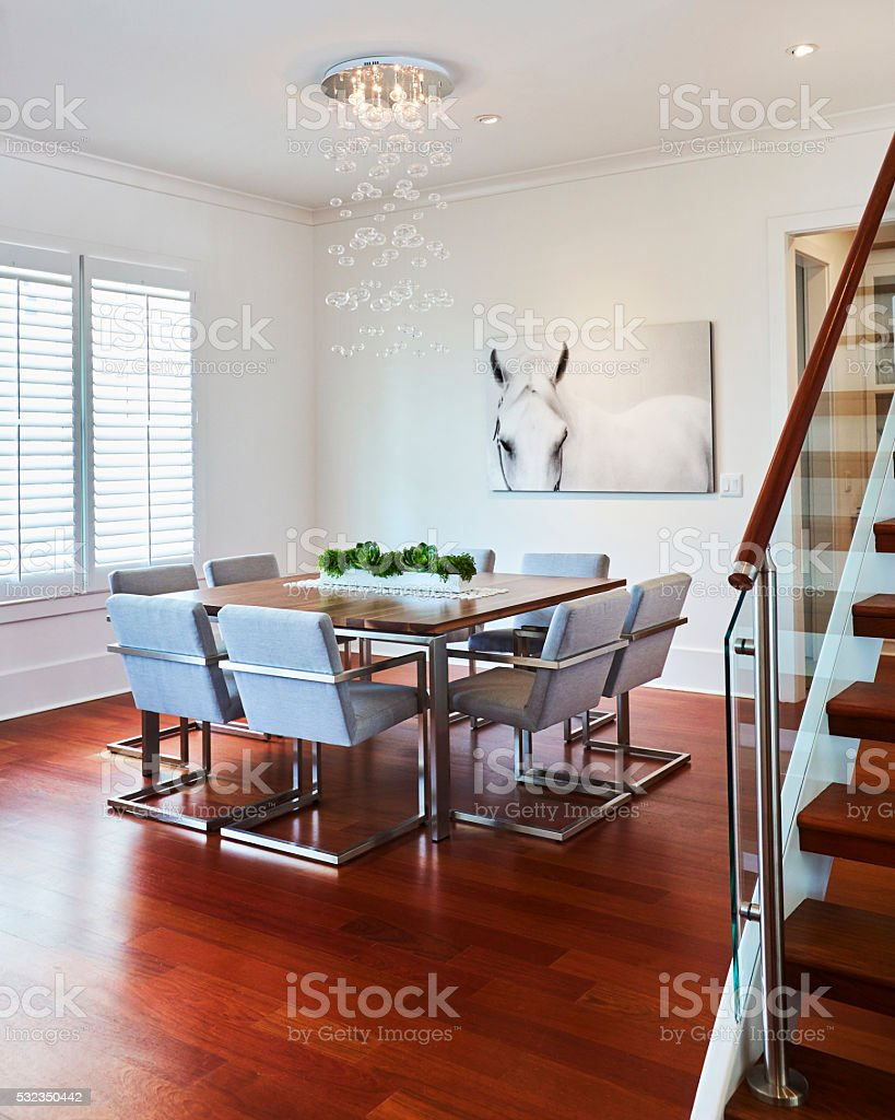 Contemporary Dinning Room stock photo