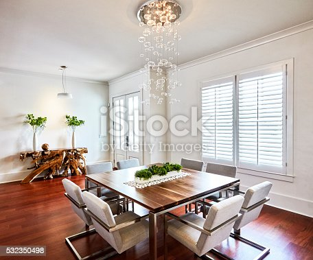 Contemporary dinning room.
