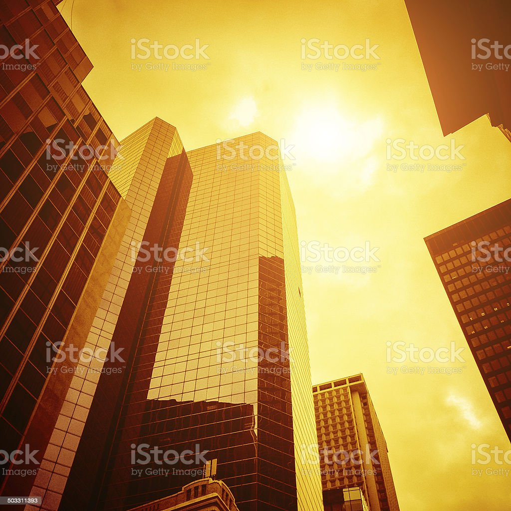 contemporary Downtown building on lower manhattan royalty-free stock photo