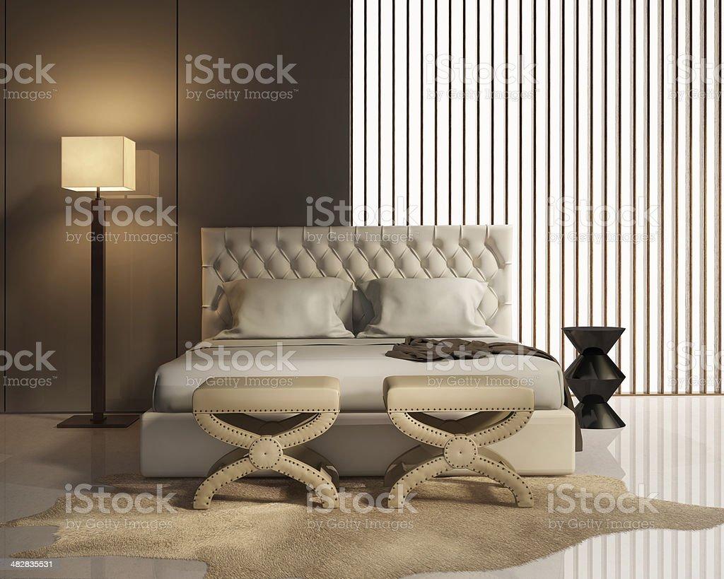 Camera Da Letto Elegante elegante camera da letto di lusso moderno con le feci e