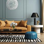 istock Contemporary elegant luxury living room 520536109