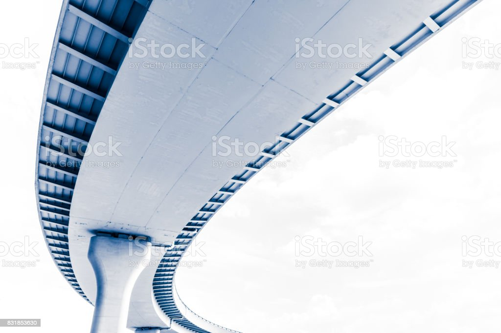 Contemporary elevated road stock photo