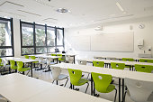 Contemporary Empty School Mathematics Classroom, Europe