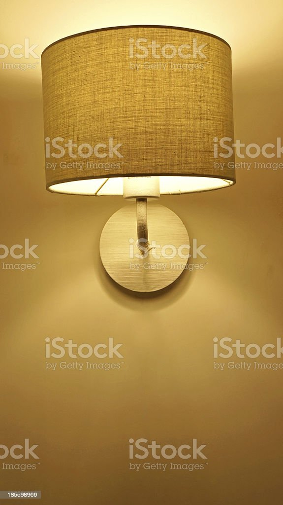 contemporary fabric lamp at night royalty-free stock photo