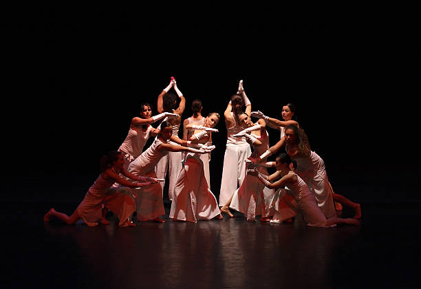 Contemporary Female Dancers on Stage  performing arts event stock pictures, royalty-free photos & images