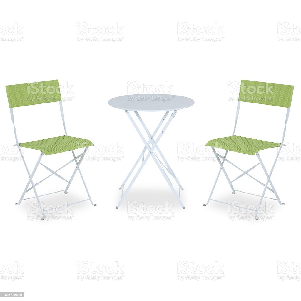 - Contemporary Folding Table And Chairs Isolated On White Background