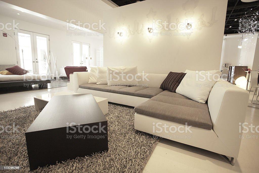 Contemporary furniture stock photo