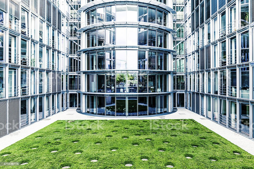Contemporary Glass Architecture in Berlin, Germany stock photo