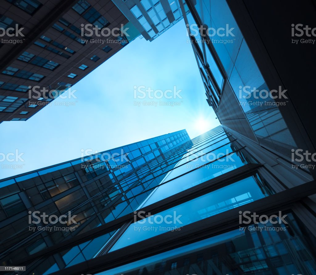 Contemporary glass architecture royalty-free stock photo