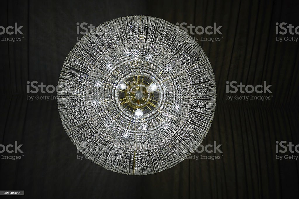 Contemporary glass chandelier royalty-free stock photo