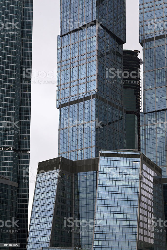 contemporary glass metal business center royalty-free stock photo