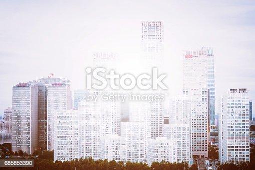 istock Contemporary glass skyscrapers 685853390