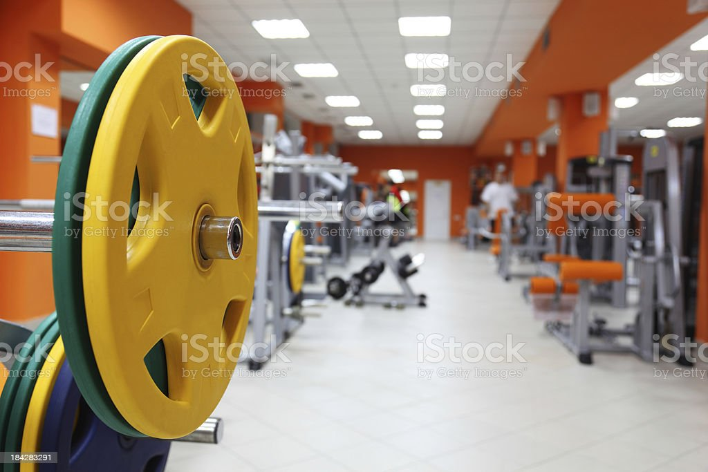 Contemporary Gym background stock photo