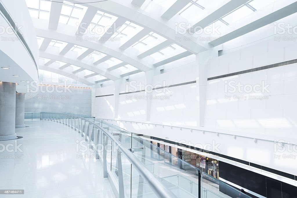 contemporary hallway of modern office building royalty-free stock photo