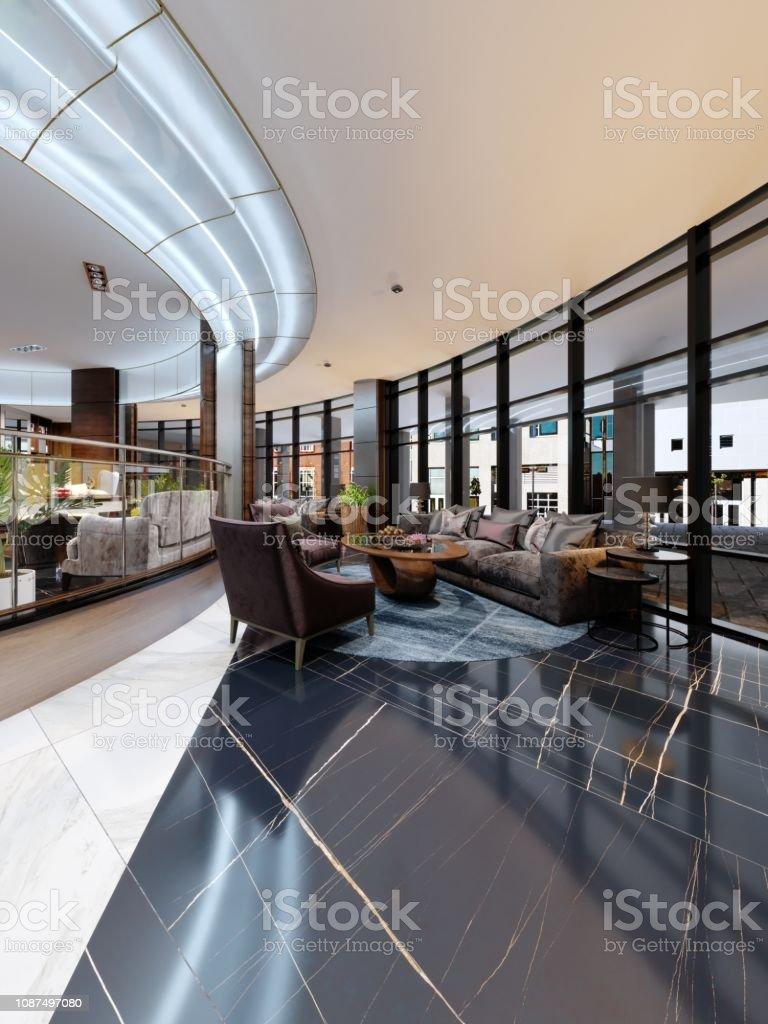 Contemporary Hotel Interior Design Hotel Lobby Rest Area