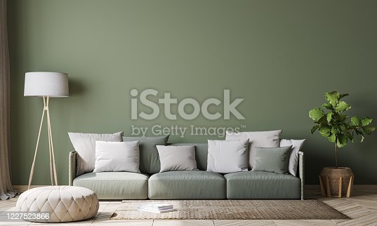 988616560 istock photo Contemporary interior design for interior mock up in living room. Scandinavian home decor. Stock photo 1227523866