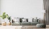 istock Contemporary interior design for interior mock up in living room. Scandinavian home decor. Stock photo 1227524015