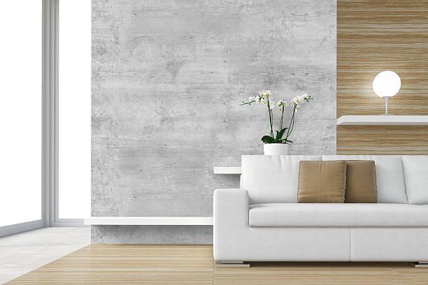 moderne interior szene – bild - graues büro stock-fotos und bilder