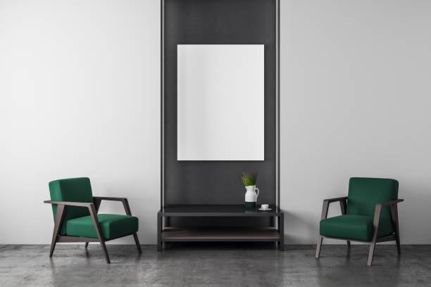 Moderne Inneneinrichtung mit Möbel und poster – Foto