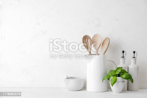 834157738istockphoto Contemporary kitchen background with blank space for a text 1178062579