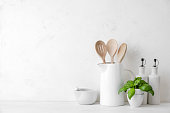 istock Contemporary kitchen background with blank space for a text 1178062579