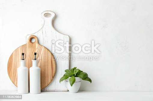834157738istockphoto Contemporary kitchen background with blank space for a text 1178062664