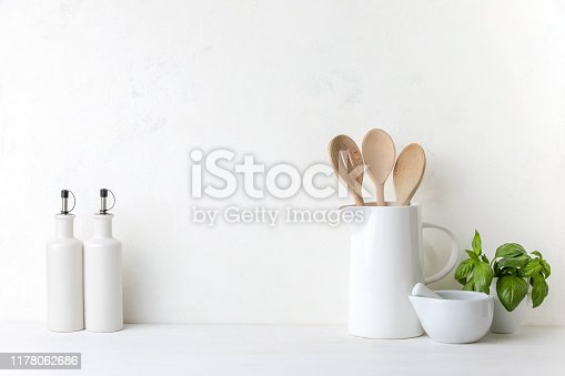 834157738istockphoto Contemporary kitchen background with blank space for a text 1178062686