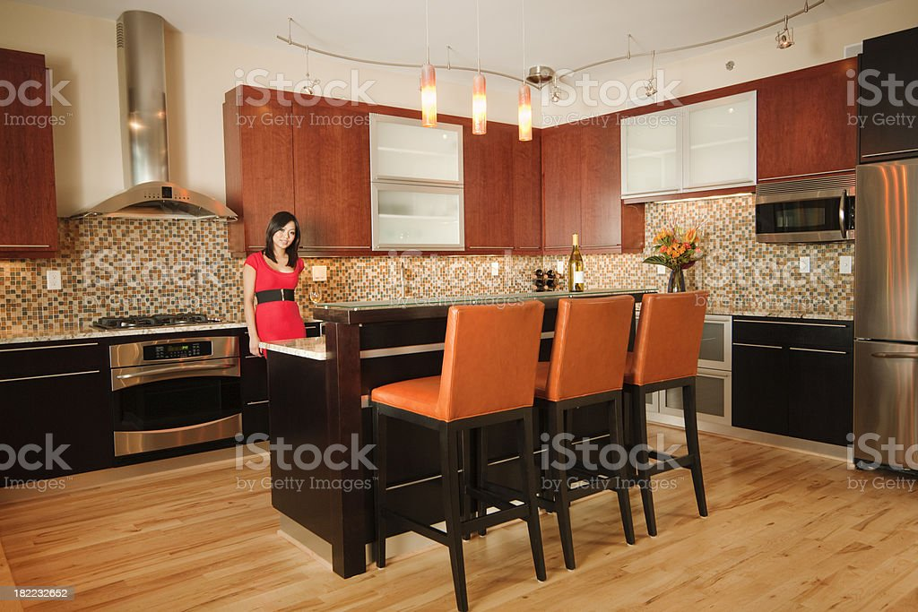 Contemporary Kitchen Design royalty-free stock photo