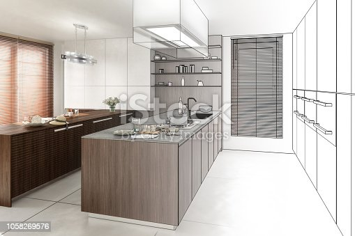 istock Contemporary Kitchen (project) 1058269576