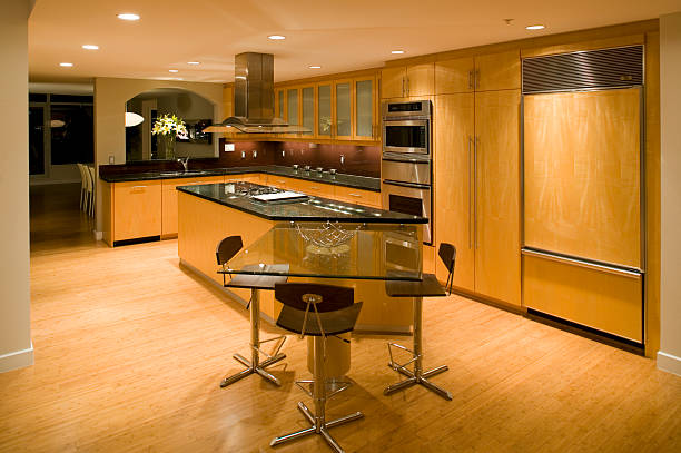 contemporary kitchen stock photo