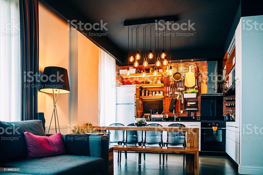 Moderne Lampen 51 : Moderne küche stockfoto  istock