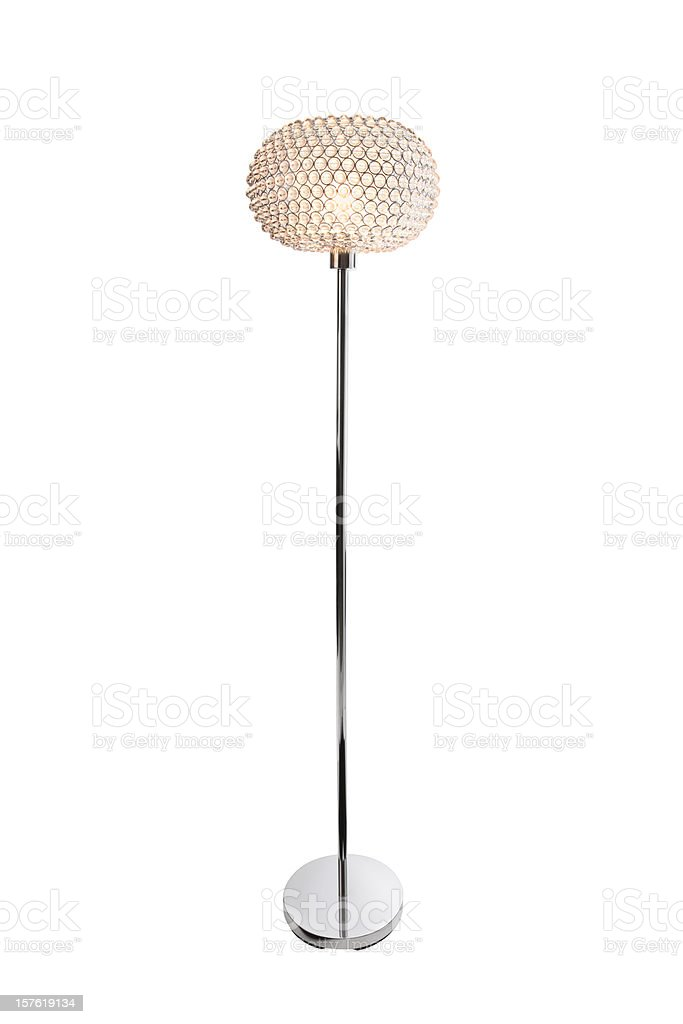 Contemporary Lamp with Clipping Path stock photo
