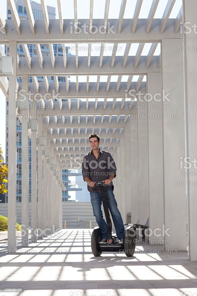 Contemporary life with modern transport. stock photo