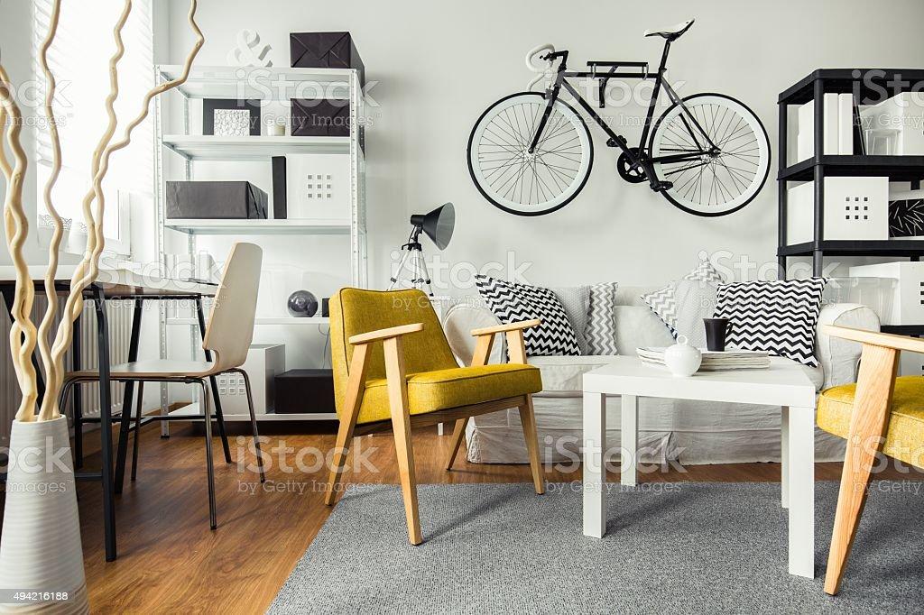 Moderne Wohnzimmer mit hipster – Foto