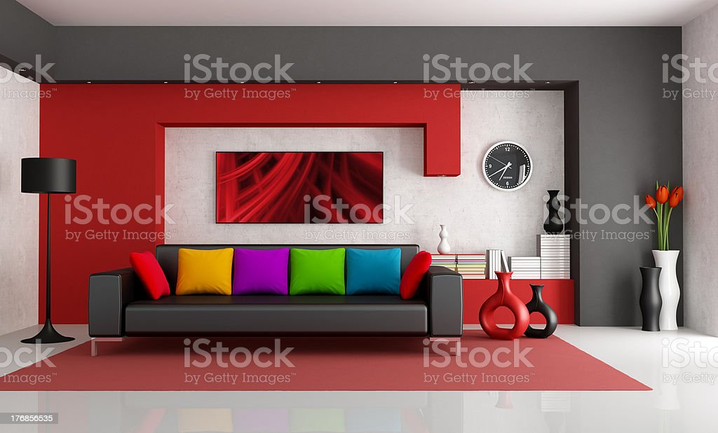 Contemporary Living Room royalty-free stock photo