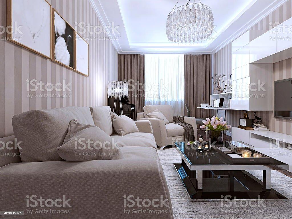 Photo de stock de Salon De Style Contemporain images libres de droit ...