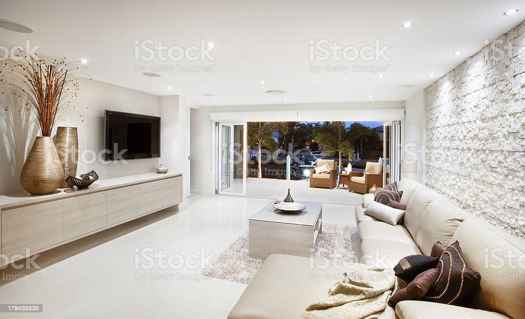 Contemporary livingroom royalty-free stock photo
