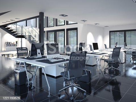 istock contemporary loft office 1221150525