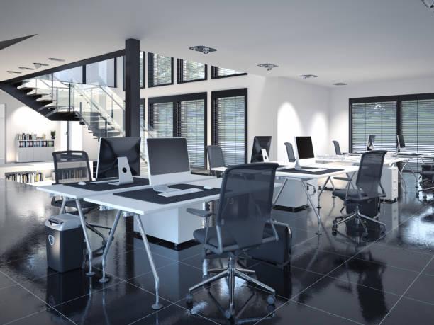 oficina de loft contemporáneo - foto de stock
