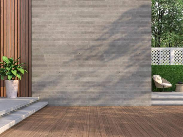 Zeitgenössische Loft-Stil Balkon 3D-Render – Foto